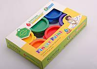 Фарби пальчикові, 6 кольорів, фото 1