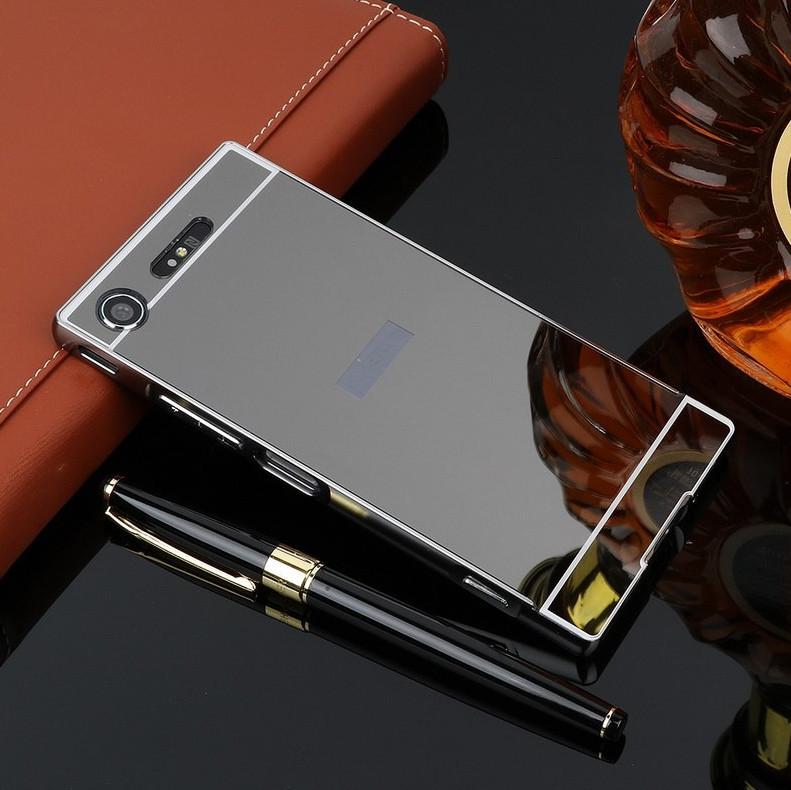 Алюминиевый чехол бампер для Sony Xperia XZ1 (G8342)
