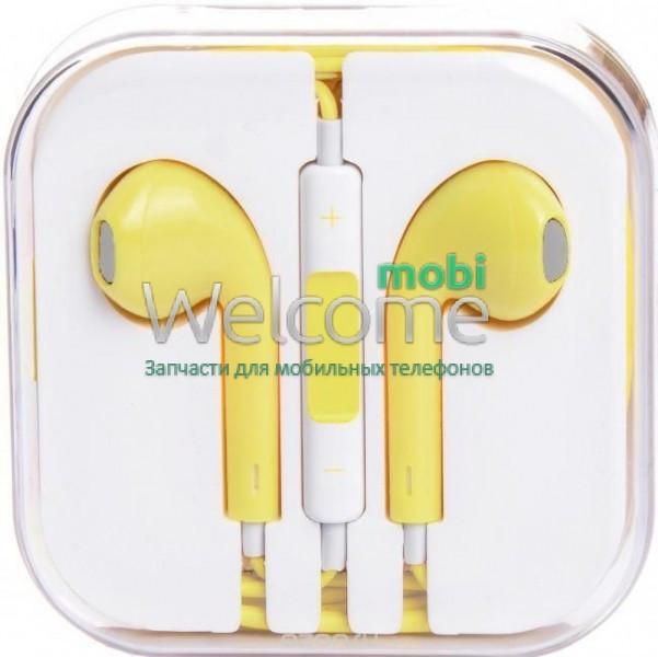 Навушники iPhone 5S yellow (пульт + мікрофон)  76 грн. - Навушники ... 93c3827cc1fc5