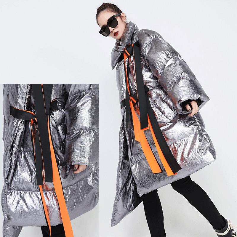 Пальто-куртка - кимоно, металлик