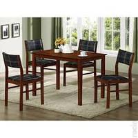 Обеденный комплект Матео - стол и четыре стула из натурального дерева