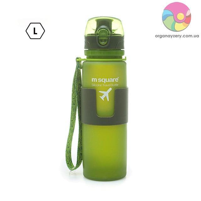 Силіконова пляшка для води 500 мл (зелений)