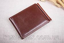 Зажим для денег с визитницей, кожа, фото 3