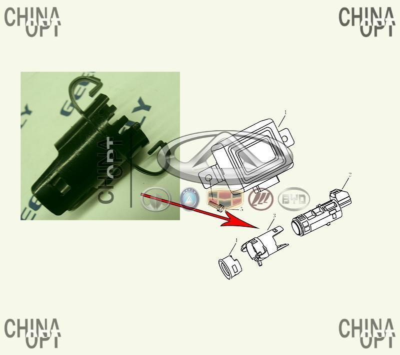 Кронштейн / направляющая датчика парктроника, Geely EC7RV[1.8,HB], 1068003040, Original parts