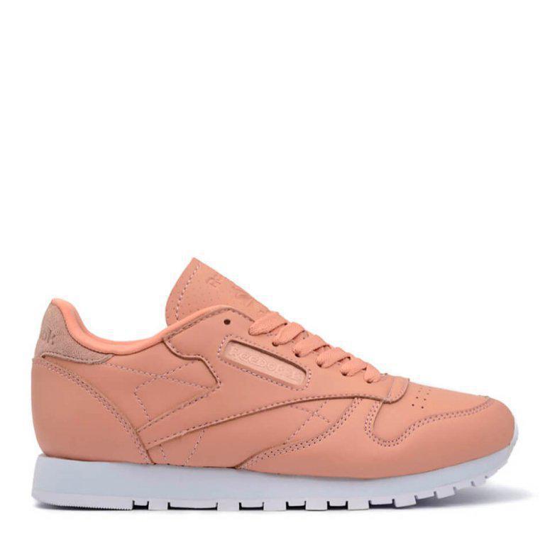 Женские Кроссовки Рибок Reebok Classic Leather Pink Salmon (Арт. 1363) — в  Категории