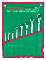 ☑️ Набор накидных ключей 6-32мм угол 45° 12ед, TOPTUL GAAA1201