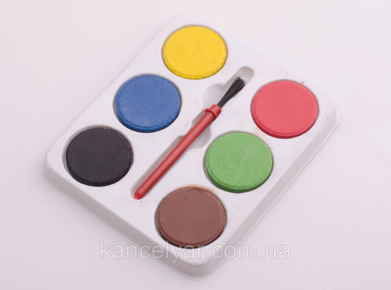 Краски: 6 цветов + кисточка