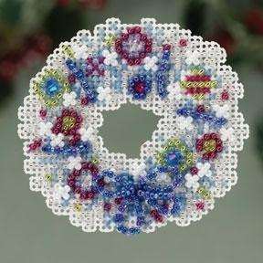 Набор для вышивки Mill Hill Crystal Wreath