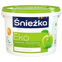 Водоэмульсионная краска ŚNIEŻKA EKO (Снежка Эко) для стен и потолков 14,0 кг