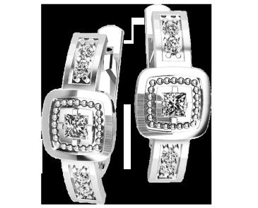 Серьги серебряные  Элита 41110