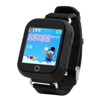 Умные часы Smart Baby Watch Q100s(GW200s) Black GPS,Wifi,Вибро