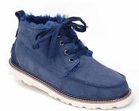 Мужские зимние ботинки Угги Уги UGG David Beckham Boots Dark Blue (Высшее качество) Арт. 0398