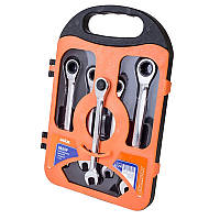 ☑️ Набор ключей комбинированных с трещёткой (72 зуцба) CRV, 5шт в кейсе, фото 1