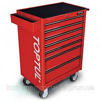 ☑️ Тележка для инструмента 7 секций (красная) TOPTUL TCAA0702, фото 1