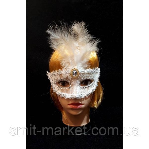 Венецианская маска Патриция (белая)
