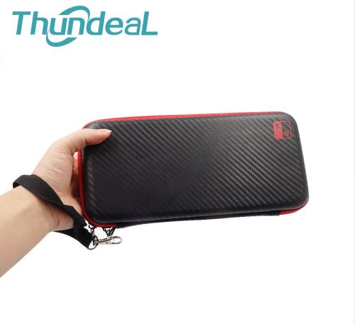 Чохол-кейс під карбон Thundeal для Nintendo Switch / Є скло