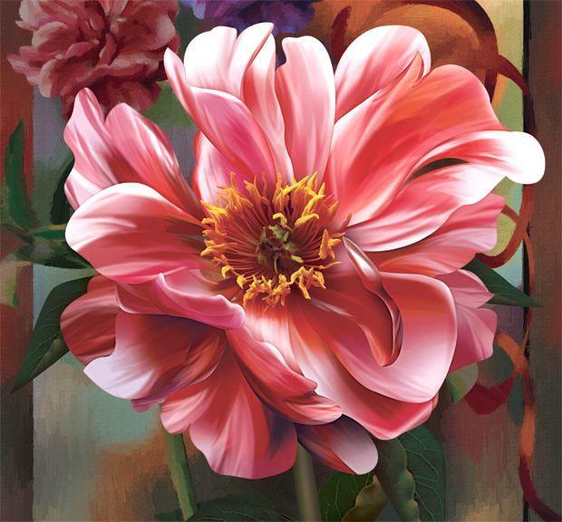 Фотообои Розовый пион 196*210 (12л) (Ника)