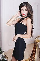 """Облегабщее трикотажное мини-платье """"SHICK"""" с чокером и камнями (3 цвета), фото 3"""