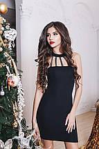 """Облегабщее трикотажное мини-платье """"SHICK"""" с чокером и камнями (3 цвета), фото 2"""