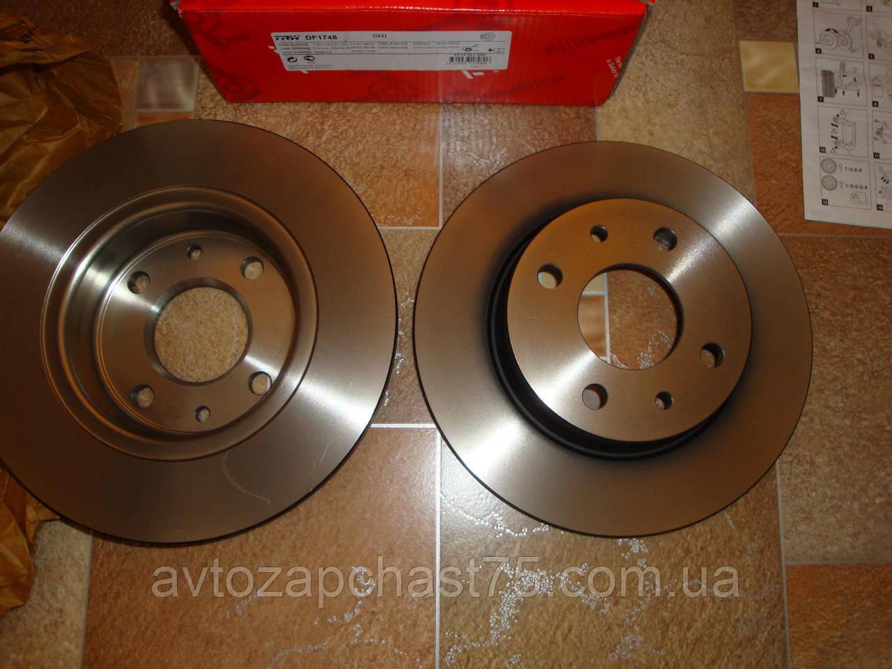 Диск тормозной передний ВАЗ 2108, 2109, 21099, 2113, 2114, 2115  производство TRW