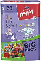 BELLA Happy Белла Хэппи Подгузники 8-18 кг Размер 4 Бигпак Макси Maxi 3d Flexi system 70 штук, фото 1
