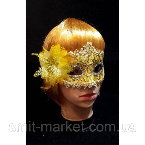 Венецианская маска с Цветком (жёлтая)