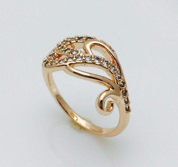 Кольцо женское Челка, размер 17, 20