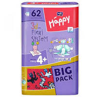 BELLA HAPPY Подгузники Белла Хэппи БИГПАК Макси Плюс Maxi Plus 9-20 кг Размер 4+ 3d Flexi system 62 шт, фото 1