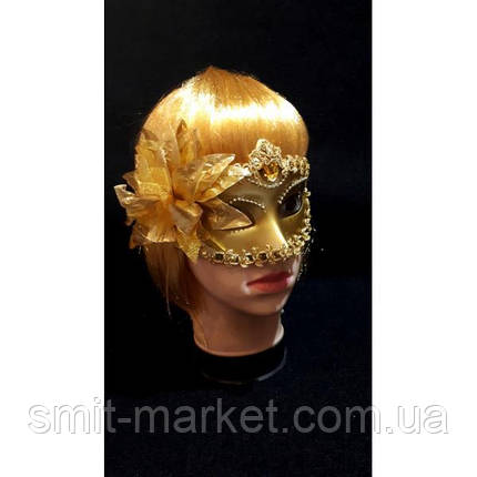 Венецианская маска с Цветком (золото), фото 2