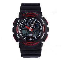 Спортивные часы Casio G-Shock GA-100 Black-Red, фото 1