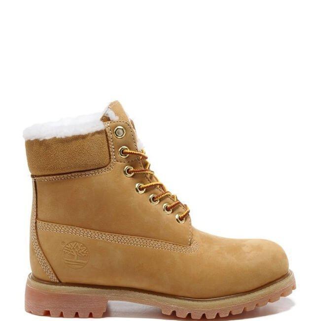 Зимние Ботинки Timberland 6 Yellow Winter Fur High Quality (Арт. 0942) — в  Категории