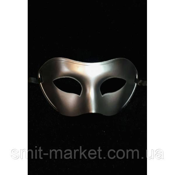 Венецианская маска серебро