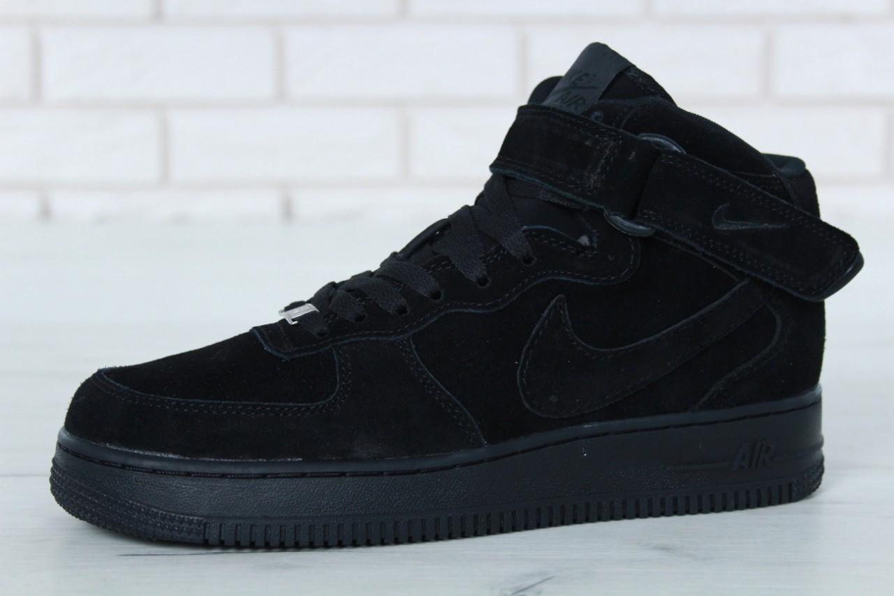 d1f31c57 Зимние кроссовки Nike Air Force реплика ААА+ (натуральная замша с мехом)  размер 42