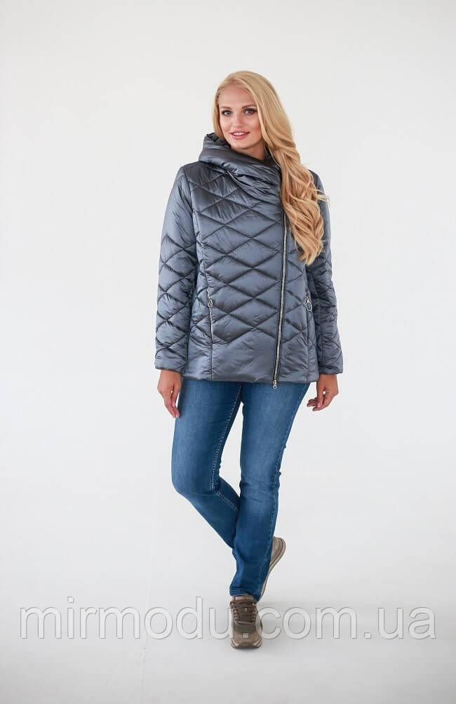Демисезонная куртка «Гала» — Темно-серый с 52 по 58 размер  (wаук)