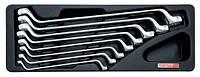 ☑️ Набор ключей накидных 6-22мм (угол 75°) 8ед. (в ложементе) TOPTUL GAAT0802