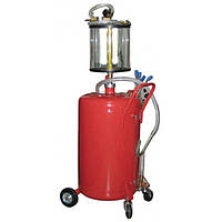 ☑️ Установка для вакуумной откачки масла с мерной колбой (80л.) G.I. KRAFT B8010KV