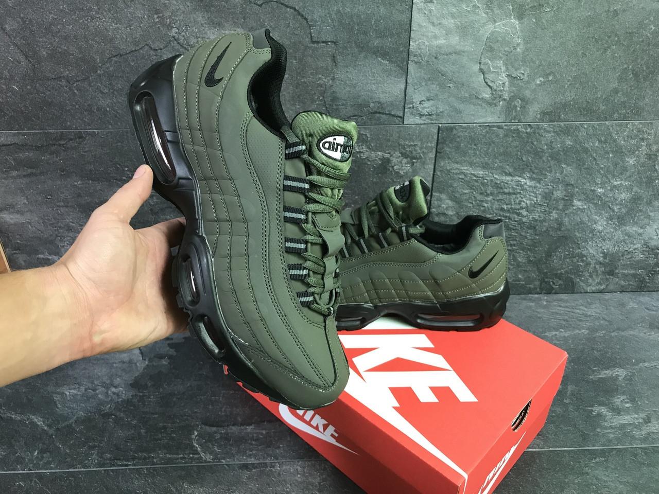 eaf455c2 Зимние мужские кроссовки темно зеленые Nike Air Max 95 РП-6343, цена 1 240  грн., купить в Хмельницком — Prom.ua (ID#784691257)