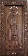Икона Сергия Радонежского с камнями Swarovski