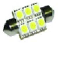 Светодиодная лампа white/ s 8.5 (11*36) /12v/6smd 41мм