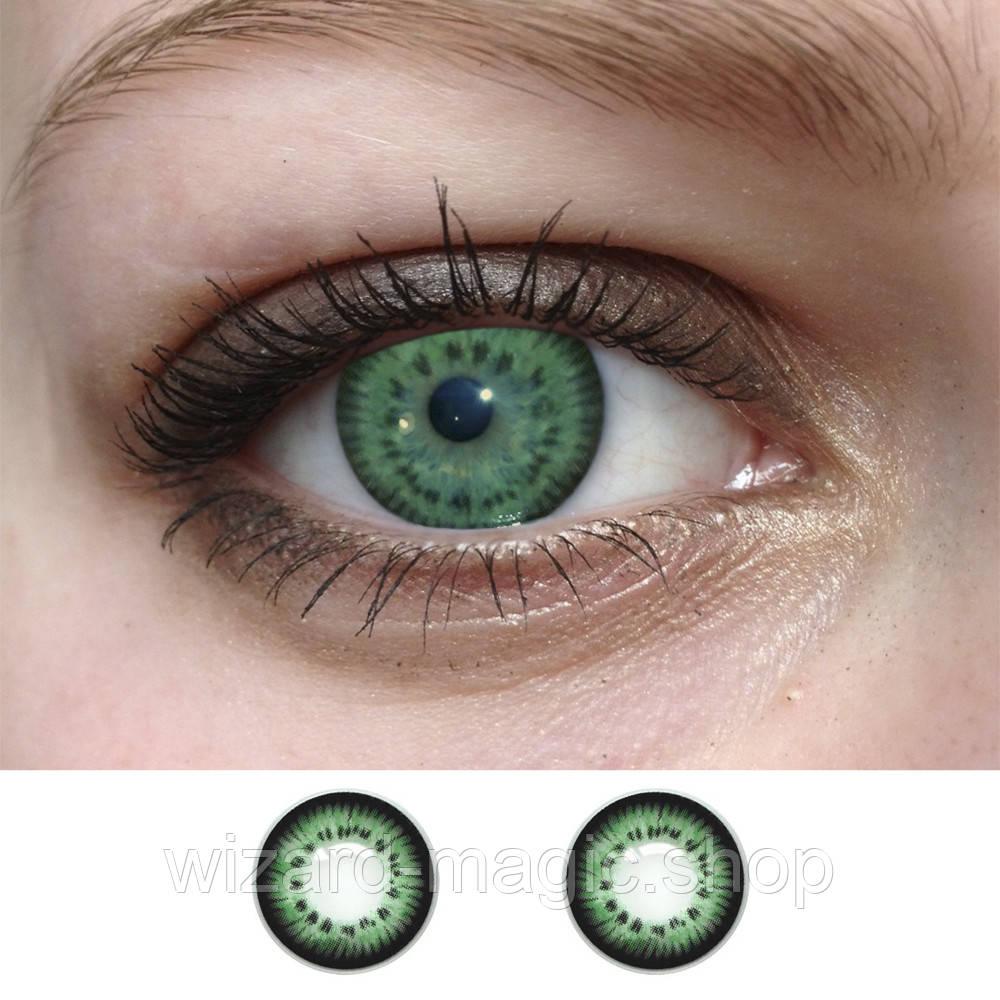 Линзы оттеночные Кукольные зеленые