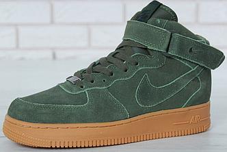 Зимние Мужские Кроссовки Nike Air Force 1 High Green