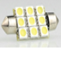 Светодиодная лампа white/ s 8.5 (11*31) /12v/9smd 31мм