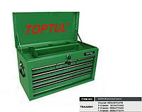 ☑️ Ящик для инструмента 6 секций 660(L)x307(W)x378(H)mm TOPTUL TBAA0601