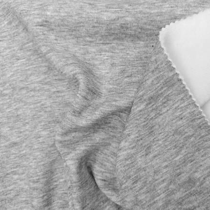 Трикотаж на меху светло-серый, фото 2