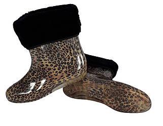 Резиновые леопардовые сапоги