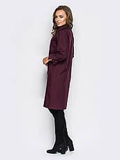 Стильне плаття-сорочка прямого крою з незвичайними кишенями марсала 60541/1 розмір 44,46,48,50,52,54, фото 3