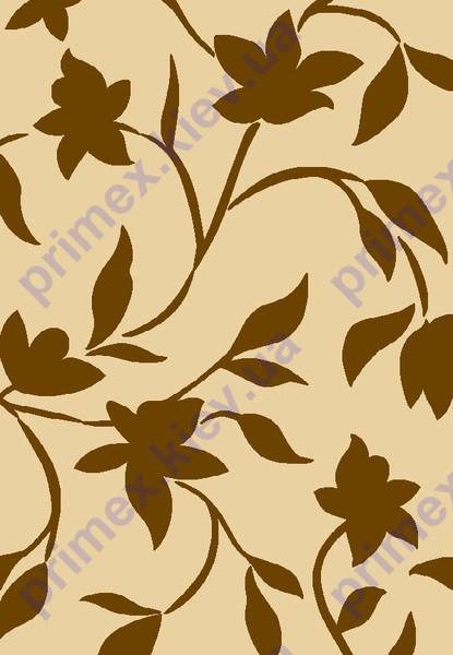 """Коврик Флорида """"Ветка с листьями и цветами"""" цвет бежевый. Коврик для спальни купить"""