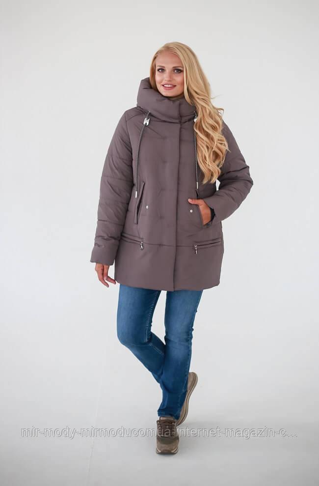 Зимняя куртка «Линда» — Светло-коричневый с 48 по 54 размер  (wаук)