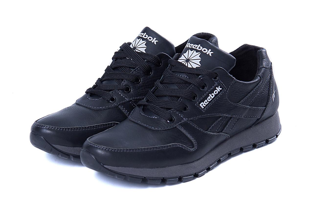 1319aa279791 Мужские кожаные кроссовки Reebok Classic Black  продажа, цена в ...