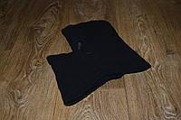 Подшлемник - капюшон зимний черный (флис), теплая балаклава для мото, вело, спорта, активного отдыха